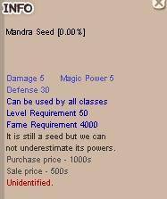 (Mandra Seed) Mandragora