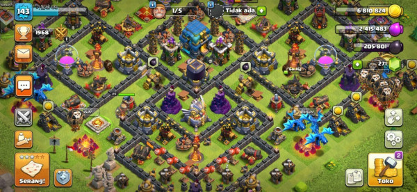 Clash of Clans SC ID-TH 12 Level 143 Good Village