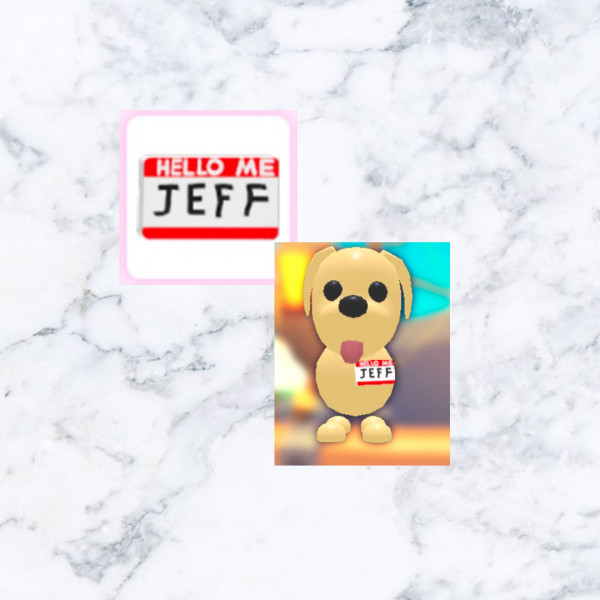 Jeff Name tag -Dress pets adopt me