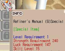 Refine Manual G Special