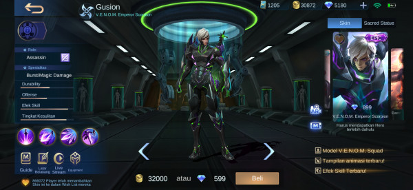 V.E.N.O.M. Emperor Scorpion (Epic Skin Gusion)