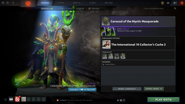 Carousal of the Mystic Masquerade (Rubick CC)