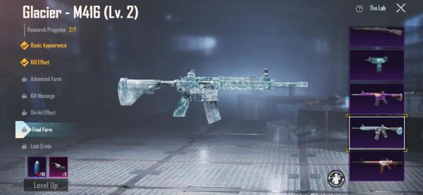 M416 GLACIER LEVEL 2 / GRANAT PESAN KILL