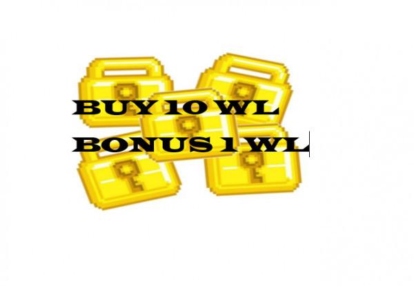 World Lock beli 10 ( bonus 1)
