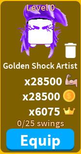 Golden Shock Artist - saber simulator