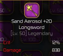 Sand Aerosol Max [Swordburst 2]