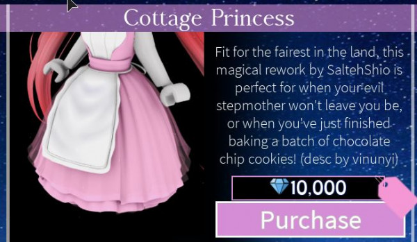 Cottage Princess Skirt - Royale High VIA TRADING