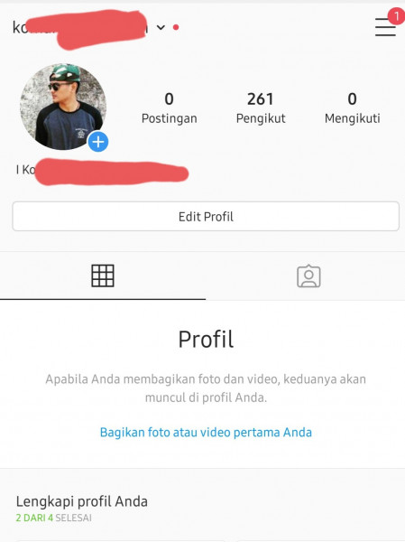 Akun Instagram 260 Follower Aktif Real Indonesia