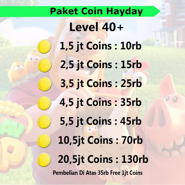 Paket Coin Hayday Murah