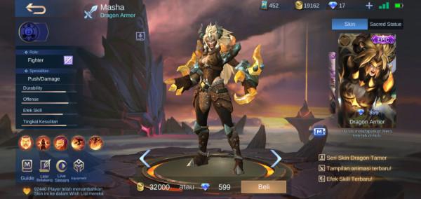 Dragon Armor (Epic Skin Masha)