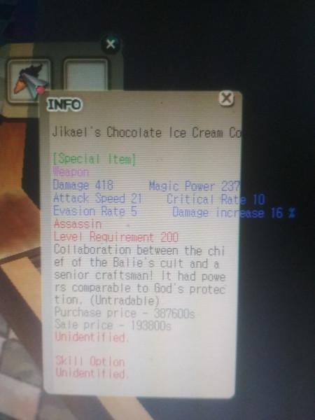 Jikael's Chocolate Ice Cream (Right Hand) XG