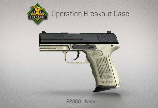 StatTrak™ P2000 | Ivory (StatTrak™ Mil-Spec Pistol)