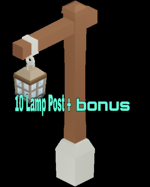 Lamp post Roblox Islan | 5 pcs