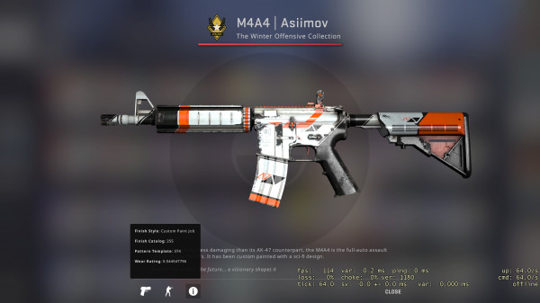 M4A4 | Asiimov BS