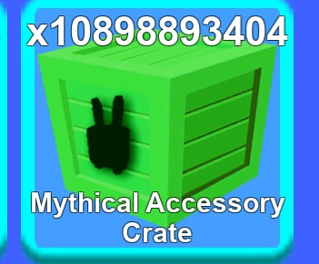 Jual 100 PC mythical accesories crate- mining simulator
