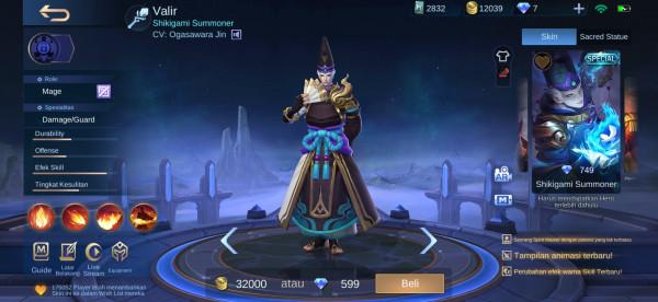 Shikigami Summoner (Special Skin Valir)
