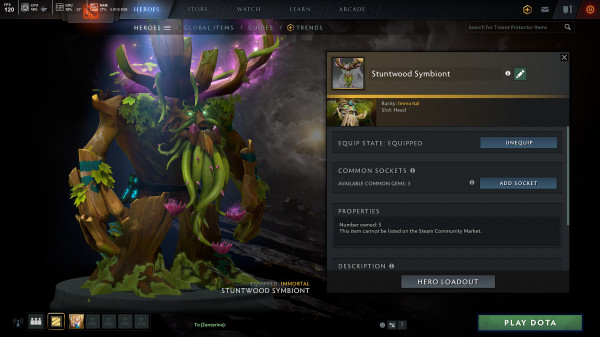 Stuntwood Symbion (Immortal TI10 Treant Protector)