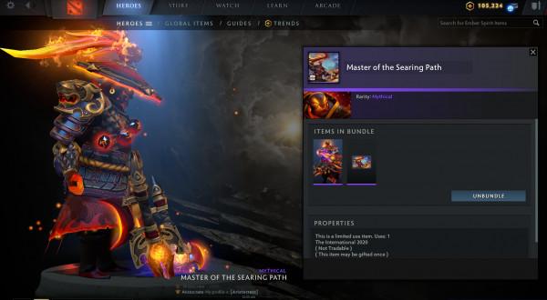 Master of the Searing Path (Ember Spirit Set)