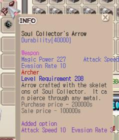 SCarrow +0 Aspd10 Eva3