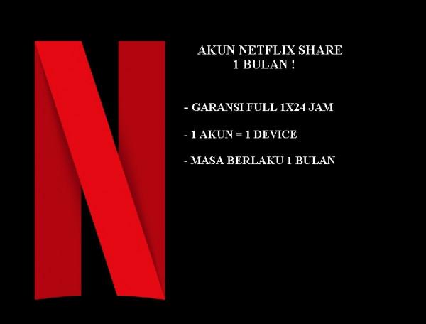 NETFLIX SHARE 1 BULAN 1 DEVICE