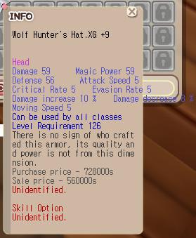Wolf Hat.XG+9 unapp