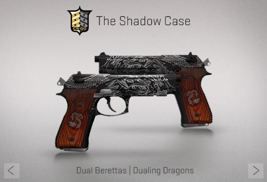 StatTrak™ Dual Berettas | Dualing Dragons (StatTrak™ Mil-Spec Pistol)