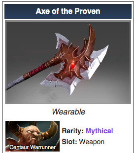 Infused Axe of the Proven (Centaur Warruner)