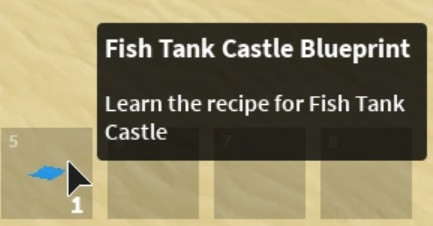 Fish Tank Castle Blueprint [Island/Sky Block]