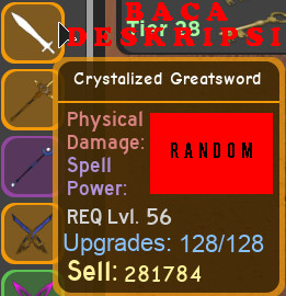 Dungeon Quest | Crystalized Greatsword
