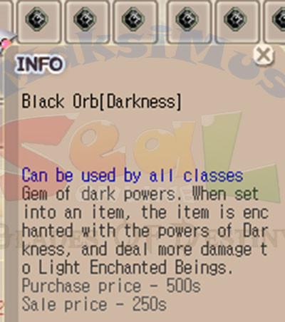 {Arus} Black Orb Elemen Tempa Darkness