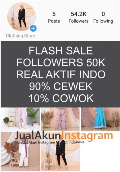 Jual Akun Instagram Followers 50k Real Aktif