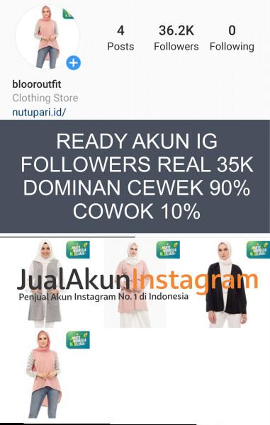 Jual Akun Instagram Followers 35K Real Aktif Indo