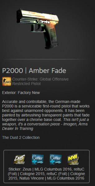 P2000 | Amber Fade