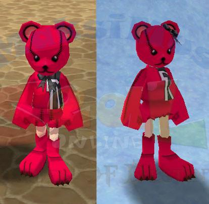 {Arus} HTBS Red Teddy Bear Costume