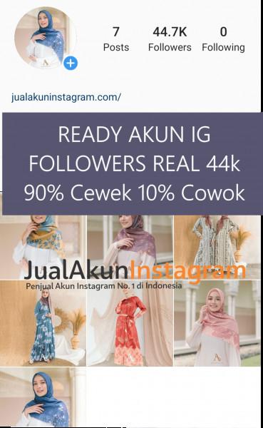 Jual Akun Instagram Followers 40K Real Aktif