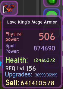 Lava king mage set max 2