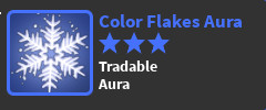 COLOR FLAKES AURA// WORLD ZERO