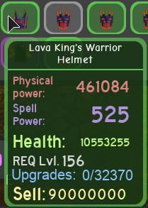 lava king war scythe bonus baju set