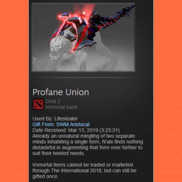 Profane Union (Immortal TI7 Lifestealer)