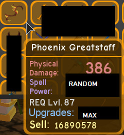 Phoenix Greatstaff | Dungeon Quest