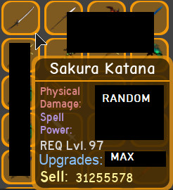 Sakura Katana | Dungeon Quest