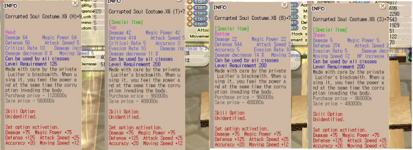 Corrupted Soul Costume H.XG+9 TBS.XG+7 Clean