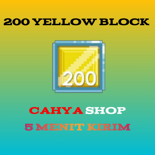 Yellow Block (200pcs)