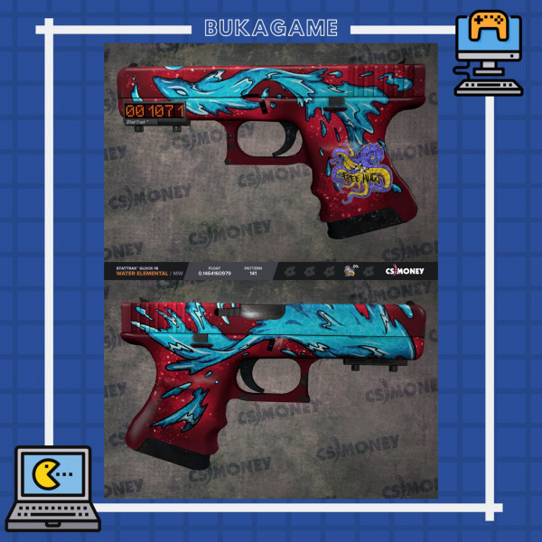StatTrak™ Glock-18 Water Elemental (Minimal Wear)