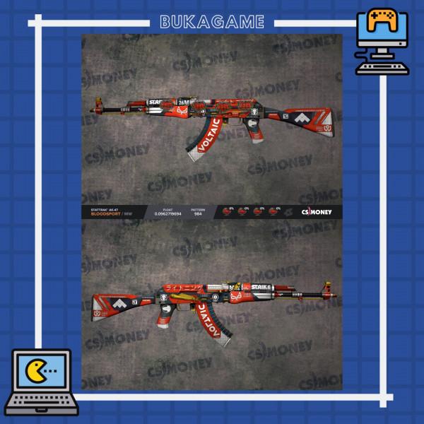 StatTrak™ AK-47 | Bloodsport (Minimal-Wear)