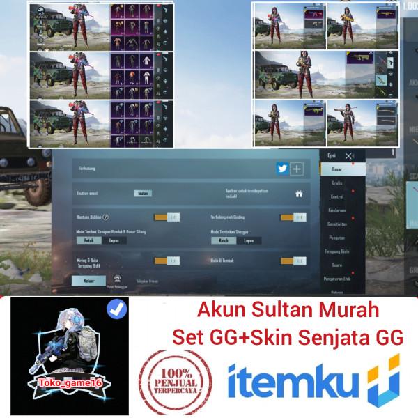 Akun PUBG Mobile Sultan Skin Senjata Banyak