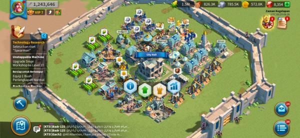 Akun Rise of Kingdom CH lvl 17