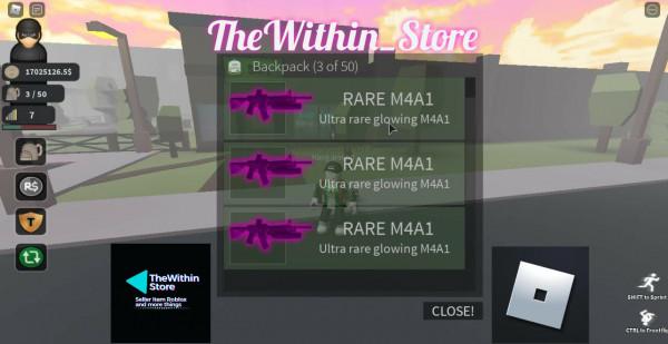 Ultra Rare Glowing M4A1 ( Thief Life Simulator )