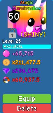 Shiny Magic Marshmallow (Secret) - Bubble Gum Sim