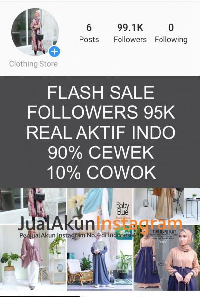 Jual Akun Instagram Followers 95K Real Aktif Indo